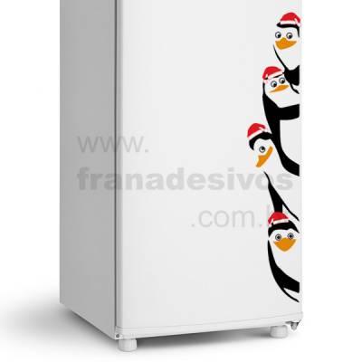 Adesivo de geladeira Pinguim de madagascar de natal