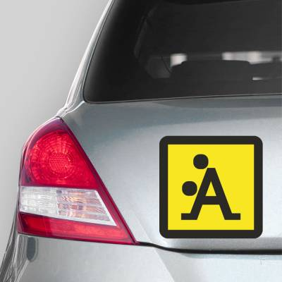 Adesivo de Carro Placa de Aviso