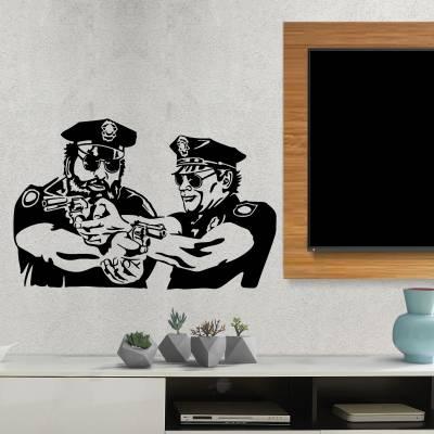 Adesivo De Parede Policiais Em Serviço