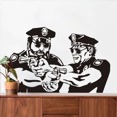Adesivo De Parede Policiais