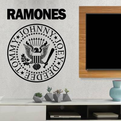 Adesivo de Parede Ramones Logo 001