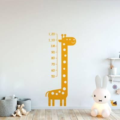 Adesivo de Parede Régua Girafa Amarela Fases