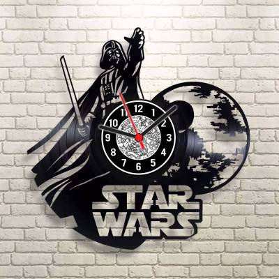 Relógio de Disco de Vinil Star Wars modelo 02