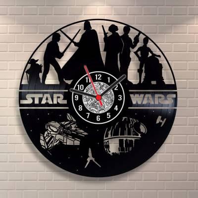 Relógio de Disco de Vinil Star Wars modelo 01