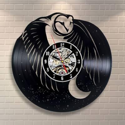 Relógio De Disco De Vinil Animais Coruja