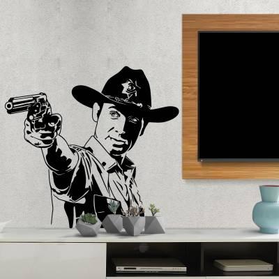Adesivo de Parede Rick The Walking Dead