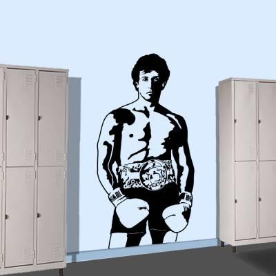 Adesivo De Parede Rocky Balboa Silhueta