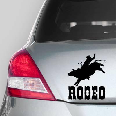Adesivo de Carro Cowboy Rodeio