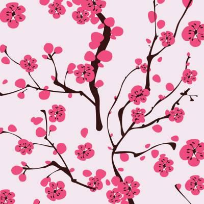 Papel de Parede Floral Sakura