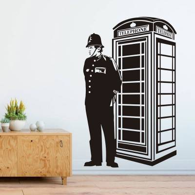 Adesivo de Parede Segurança Cabine Telefonica