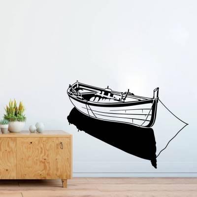 Adesivo De Parede Silhueta Barco Ancorado