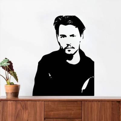 Adesivo De Parede Silhueta Keanu Reeves