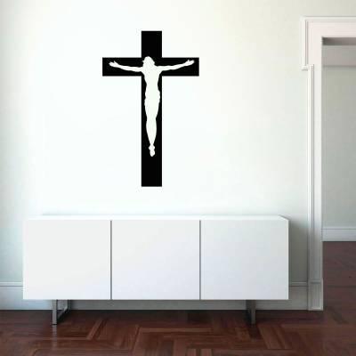 Adesivo de parede Jesus de Braços Abertos na Cruz