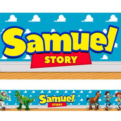 Adesivo de Faixa para Parede Toy Store Com Nome Personalizado