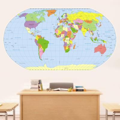 Adesivo de Parede Mapa Mundi Plano