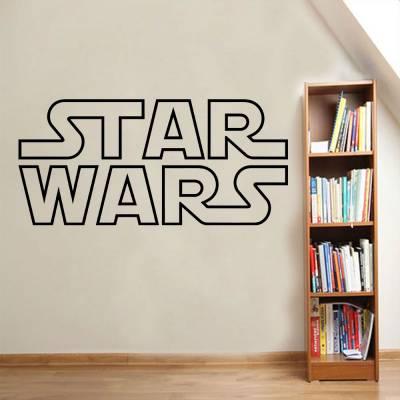 Adesivo De Parede Logo Star Wars