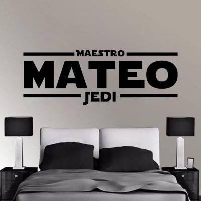 Adesivo De Parede Star Wars Nome Personalizado