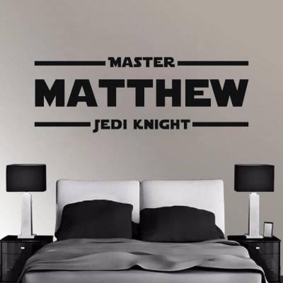 Adesivo De Parede Star Wars Nome Personalizado 2