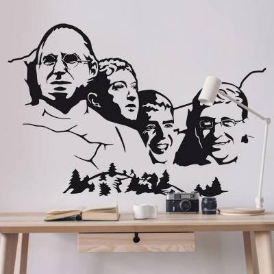 Adesivo De Parede Steve Jobs Na Pedra