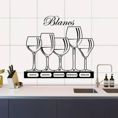 Adesivo De Parede Vinhos Brancos