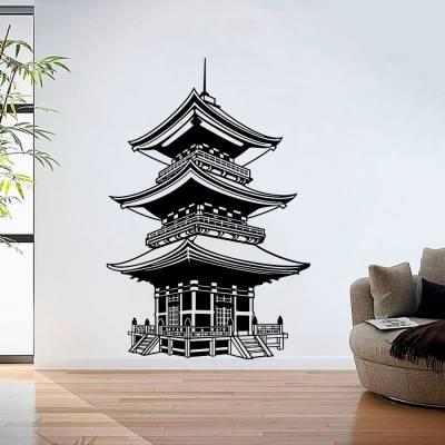 Adesivo De Parede Templo Chines 2
