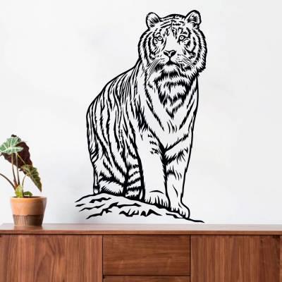 Adesivo De Parede Tigre Siberiano