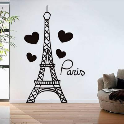 Adesivo de Parede Torre Eiffel Paris