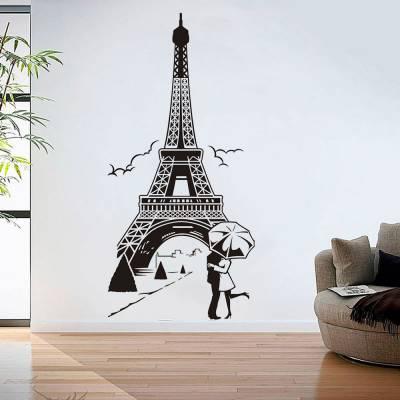 Adesivo De Parede Torre Eiffel Namorados