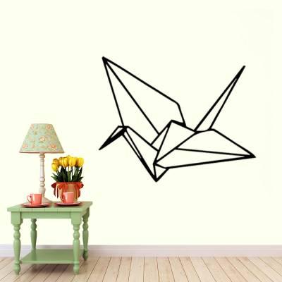 Adesivo De Parede Pássaro De Origami Tsuru