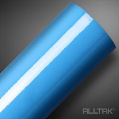 Adesivo em Rolo de 100cm Ultra Brilho Baby Blue