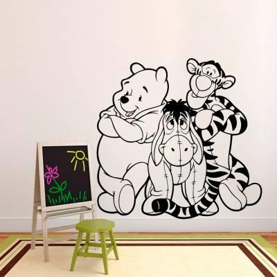 Adesivo De Parede Ursinho Pooh E Amigos