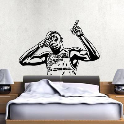 Adesivo De Parede Usain Bolt