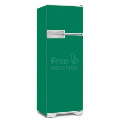 Adesivo para envelopamento de geladeira - Verde bandeira