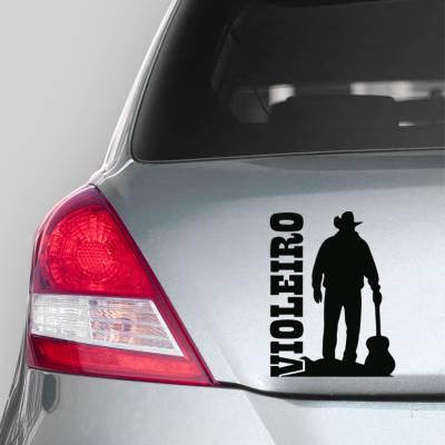Adesivo de Carro Cowboy Violeiro