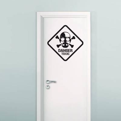 Adesivo De Parede Danger Toxic