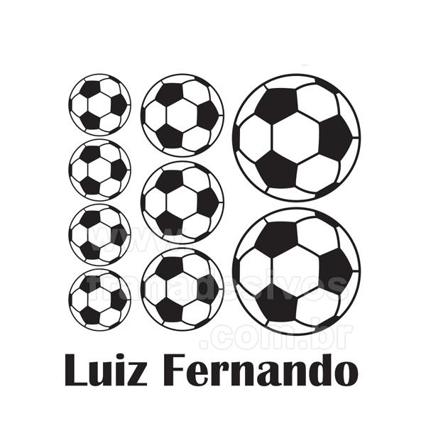 Cartela - Bolas de Futebol e Nome Personalizado teste 9d28338b1c9bb