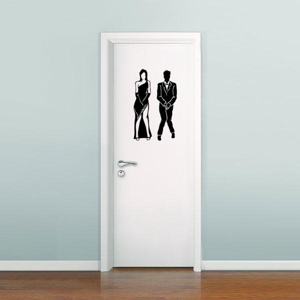 Adesivo de Parede para Banheiro Masculino e Feminino ou Casal  Mix Adesivos -> Adesivo Banheiro Feminino