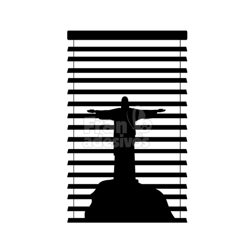 bff4b396d0d Adesivo decorativo de Janela - Cristo Redentor