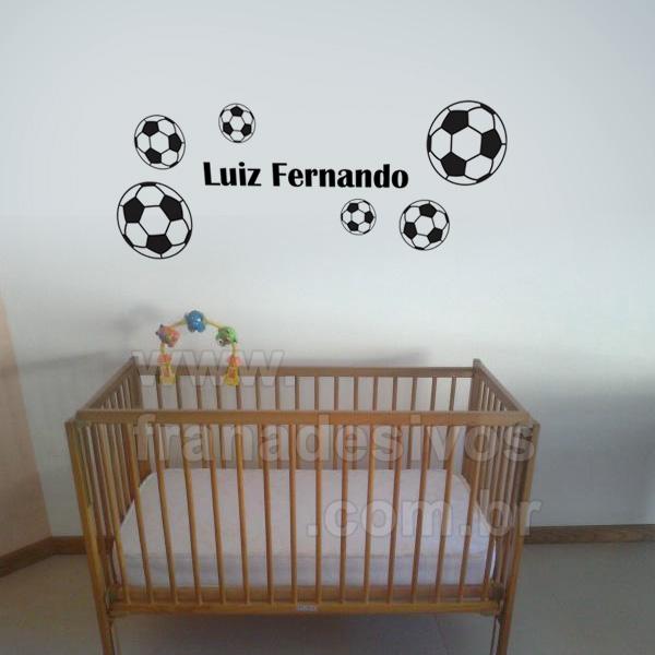 Cartela - Bolas de Futebol e Nome Personalizado teste f623d8263b7e2