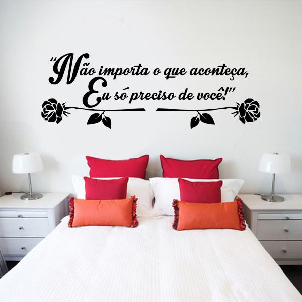 Papel De Parede Para Quarto Frases ~ Home Cabeceira Diversos Adesivo de parede Cabeceira Frase Romantica