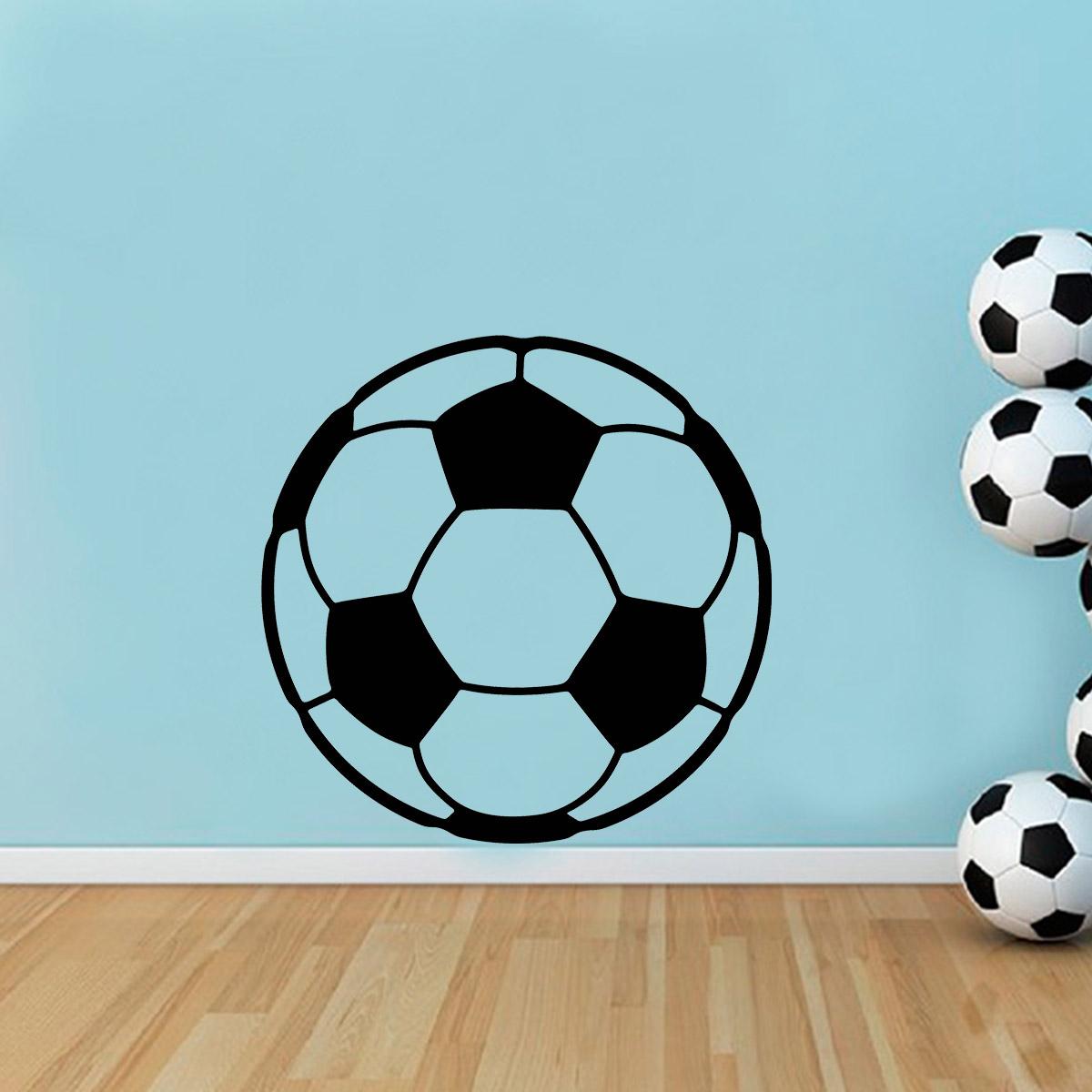 Adesivo de Parede Esporte Bola de Futebol f32b9826ba338