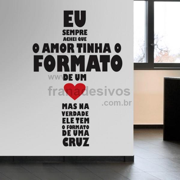 Mix Adesivo Adesivo De Parede Frase Amor Em Cruz