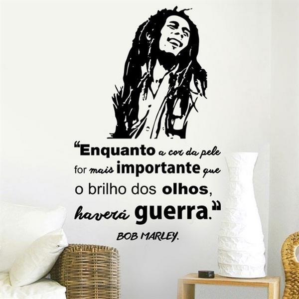 Adesivo de parede Frase Bob Marley 2  Mix Adesivos