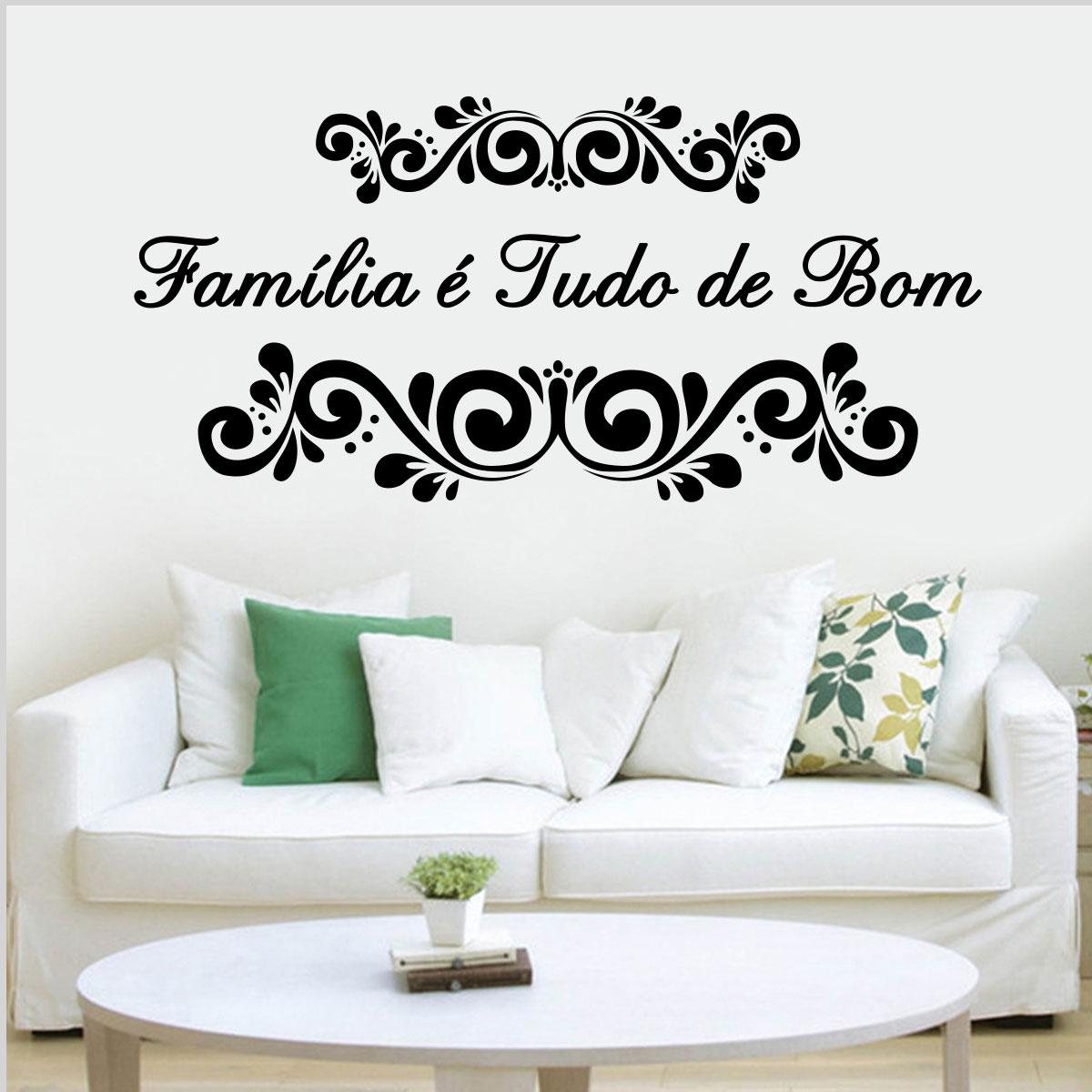 Artesanato Brasileiro Nos Estados Unidos ~ Adesivo de Parede FamíliaÉ Tudo De Bom