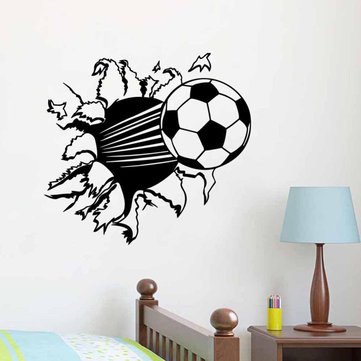Adesivo de parede bola de futebol 2 Dibujos para paredes