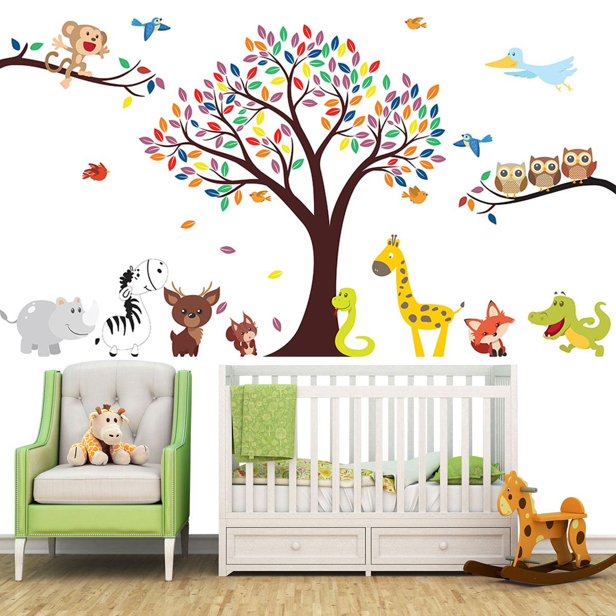 Armario Suspenso Lavanderia ~ Adesivo De Parede Infantil Safari Baby 5
