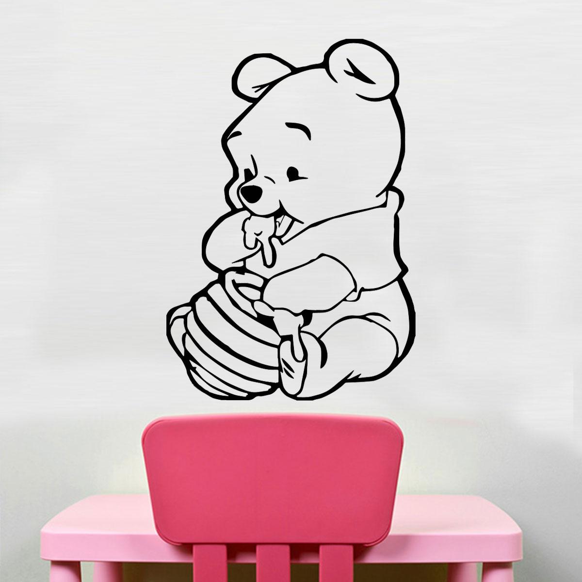 b6619547b2d Adesivo De Parede Infantil Baby Ursinho Pooh