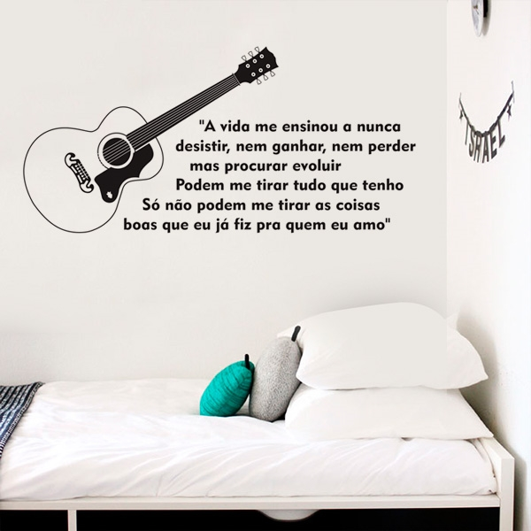 Adesivo Musica Frases Charlie Brown Jr Mix Adesivos