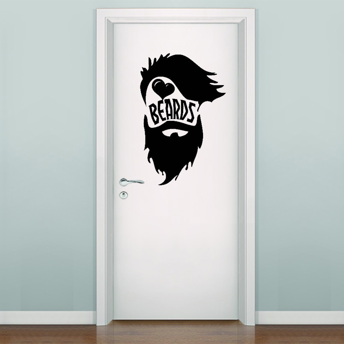Adesivo De Parede E Porta Barbearia 1