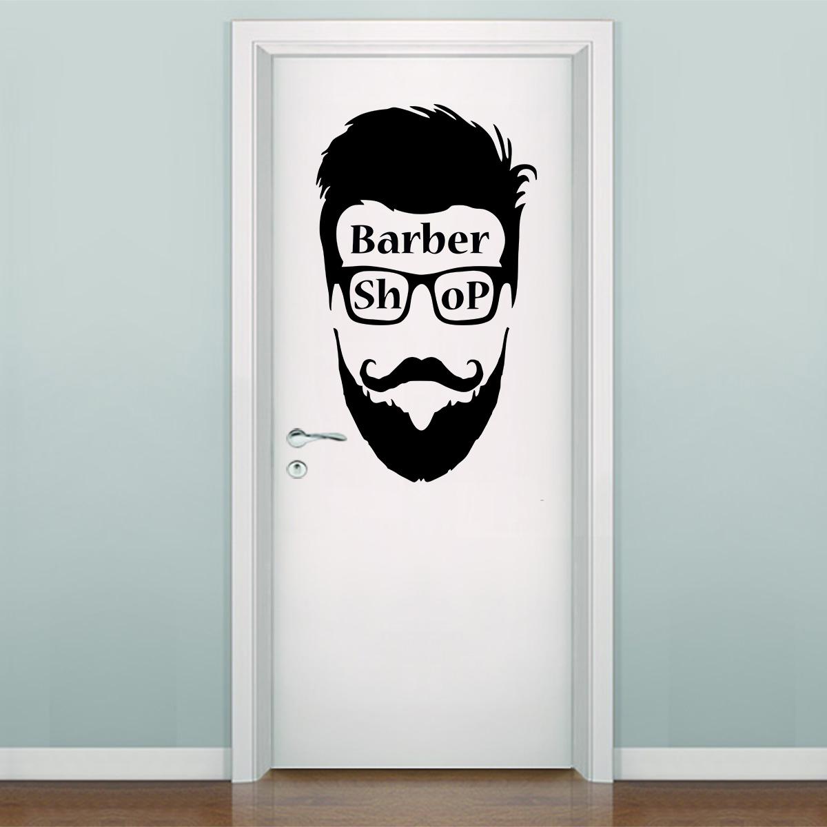 Adesivo De Parede E Porta Barbearia 2